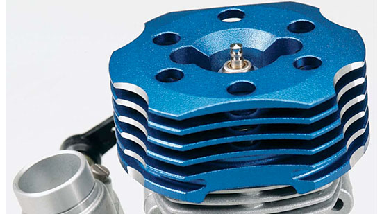 O.S. 50SX-H Ringed Hyper Heli - heat sink head
