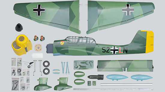 Phoenix Model Stuka Ju 87 GP/EP ARF - Parts