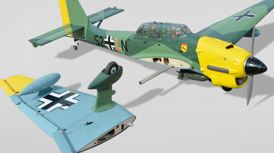 Phoenix Model Stuka Ju 87 GP/EP ARF - two-piece wing
