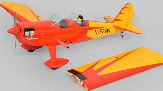 Phoenix Model Spacewalker II GP/EP ARF - Two-piece wing with NACA airfoils.