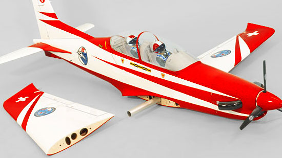 Phoenix Model PC-21 Pilatus Mk.2 GP/EP/Gas ARF - Bolt-on two-piece wing