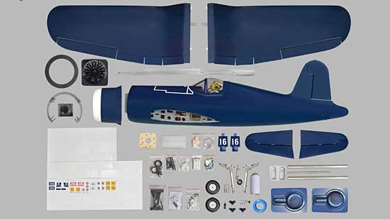 Phoenix Model F4U Corsair GP/EP 20cc ARF - All you get image