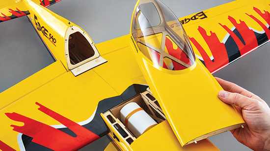 Tower Hobbies Edge 540 .46-.55/EP Sport Aerobatic ARF - Removable canopy/hatch.