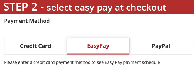 Easy Pay Set Two - Choose Easy Pay Option