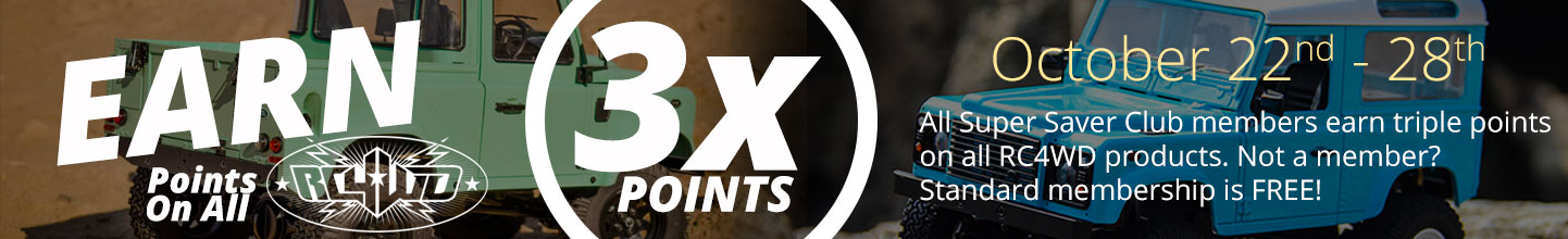 Tower Hobbies 3x Point on All RC4WD Products through October 28th